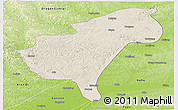 Shaded Relief Panoramic Map of Morindawa Daur Ab, physical outside