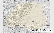 Shaded Relief Map of Ningcheng, desaturated