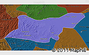 Political Map of Ongniud Qi, darken