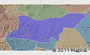 Political Map of Ongniud Qi, semi-desaturated