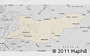 Shaded Relief Map of Ongniud Qi, desaturated