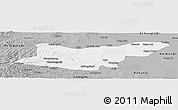 Gray Panoramic Map of Ongniud Qi