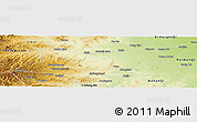 Physical Panoramic Map of Ongniud Qi