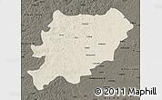 Shaded Relief Map of Oroqen Zizhiqi, darken