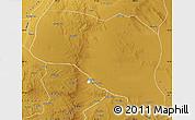 Physical Map of Otog Qianqi