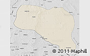 Shaded Relief Map of Otog Qianqi, desaturated