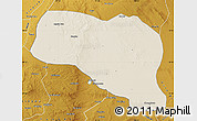 Shaded Relief Map of Otog Qianqi, physical outside