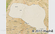 Shaded Relief Map of Otog Qianqi, satellite outside