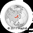 Outline Map of Nei Mongol Zizhiqu