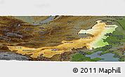 Physical Panoramic Map of Nei Mongol Zizhiqu, darken
