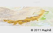 Physical Panoramic Map of Nei Mongol Zizhiqu, lighten