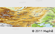Physical Panoramic Map of Nei Mongol Zizhiqu