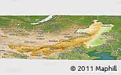 Physical Panoramic Map of Nei Mongol Zizhiqu, satellite outside