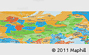 Political Shades Panoramic Map of Nei Mongol Zizhiqu