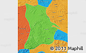 Political Map of Qahar Youyi Houqi