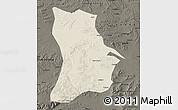 Shaded Relief Map of Qahar Youyi Houqi, darken