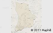 Shaded Relief Map of Qahar Youyi Houqi, lighten