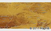 Physical Panoramic Map of Qahar Youyi Houqi