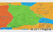 Political Panoramic Map of Qahar Youyi Houqi