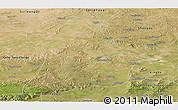 Satellite Panoramic Map of Qahar Youyi Houqi