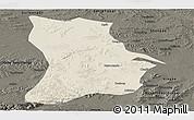 Shaded Relief Panoramic Map of Qahar Youyi Houqi, darken