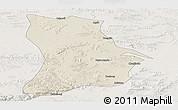 Shaded Relief Panoramic Map of Qahar Youyi Houqi, lighten