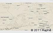 Shaded Relief Panoramic Map of Qahar Youyi Houqi