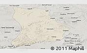 Shaded Relief Panoramic Map of Qahar Youyi Houqi, semi-desaturated