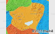 Political Map of Qahar Youyi Qianqi