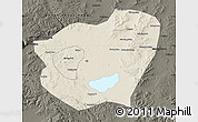 Shaded Relief Map of Qahar Youyi Qianqi, darken