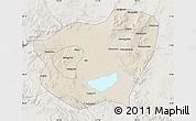 Shaded Relief Map of Qahar Youyi Qianqi, lighten