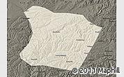 Shaded Relief Map of Qingshuihe, darken