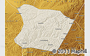 Shaded Relief Map of Qingshuihe, physical outside