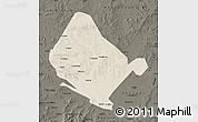 Shaded Relief Map of Shangdu, darken