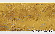 Physical Panoramic Map of Shangdu