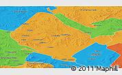 Political Panoramic Map of Shangdu