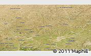 Satellite Panoramic Map of Shangdu