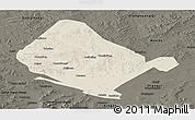 Shaded Relief Panoramic Map of Shangdu, darken