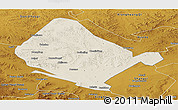 Shaded Relief Panoramic Map of Shangdu, physical outside