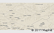 Shaded Relief Panoramic Map of Shangdu