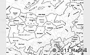 Blank Simple Map of Nei Mongol Zizhiqu