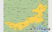 Savanna Style Simple Map of Nei Mongol Zizhiqu