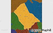 Political Map of Siziwang Qi, darken