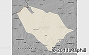 Shaded Relief Map of Sonid Youqi, darken, desaturated