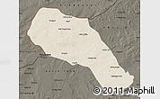 Shaded Relief Map of Sonid Zuoqi, darken