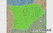 Political Map of Taibus Qi, semi-desaturated