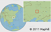 Savanna Style Location Map of Tongliao Shi