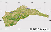 Satellite Map of Tongliao, cropped outside