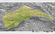 Satellite Map of Tongliao, desaturated