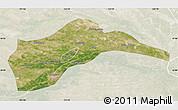Satellite Map of Tongliao, lighten